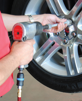 Changing a tire quick and easy