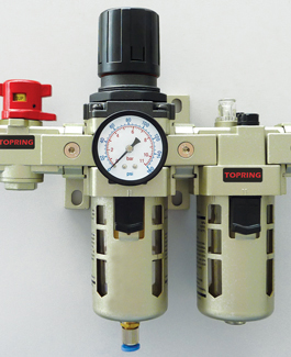 compressed air lubricator, regulator, filter